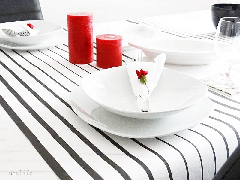 tischdeko black white unalife. Black Bedroom Furniture Sets. Home Design Ideas