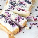 Vanille Blaubeeren Tarte mit weißer Schokolade