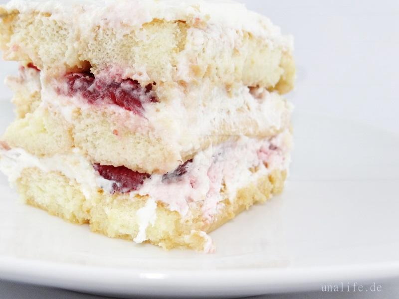 löffelbiskuit kuchen mit erdbeeren kein backen