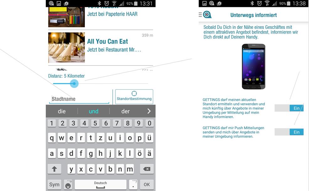 Gettings App runter laden Erfahrungen