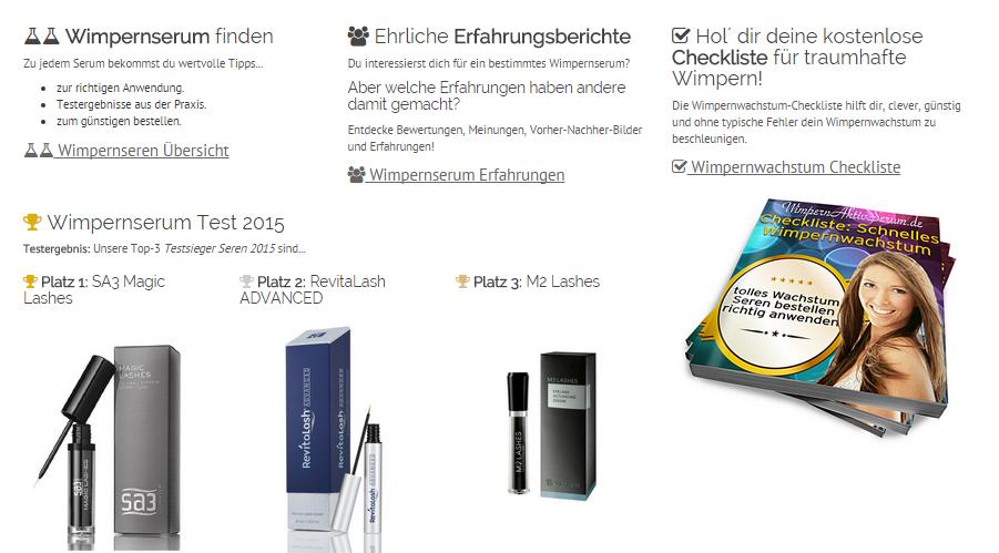 Screenshot wimpernaktivserum.de