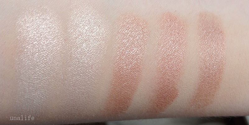 swatches Lidschatten mit Eyeshadow Base