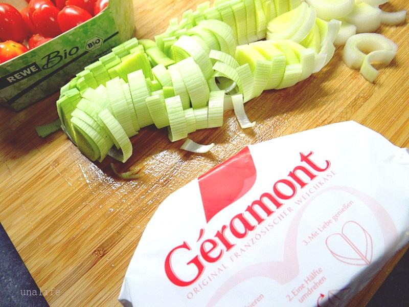 Nudelsalat mit Geramont Käse