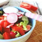 Salat mit Drei Spatzen