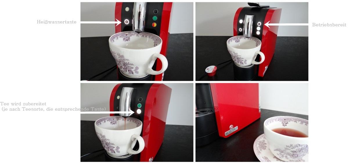 tee kochen mit Teemaschine