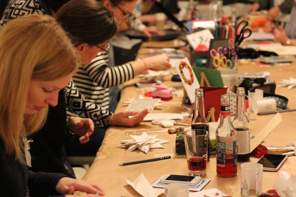 weihnachtskarten basteln workshop hamburg