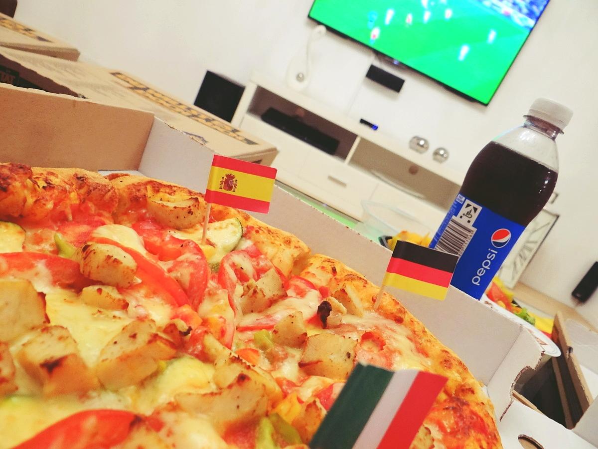 Sommerpizza Torjubel von Hallo Pizza EM Abend