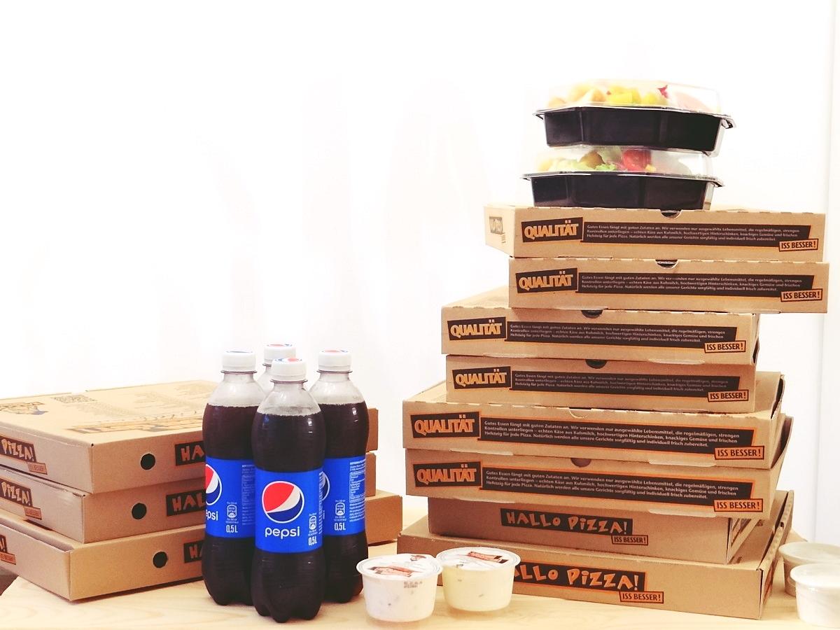 riesen bestellung bei hallo pizza