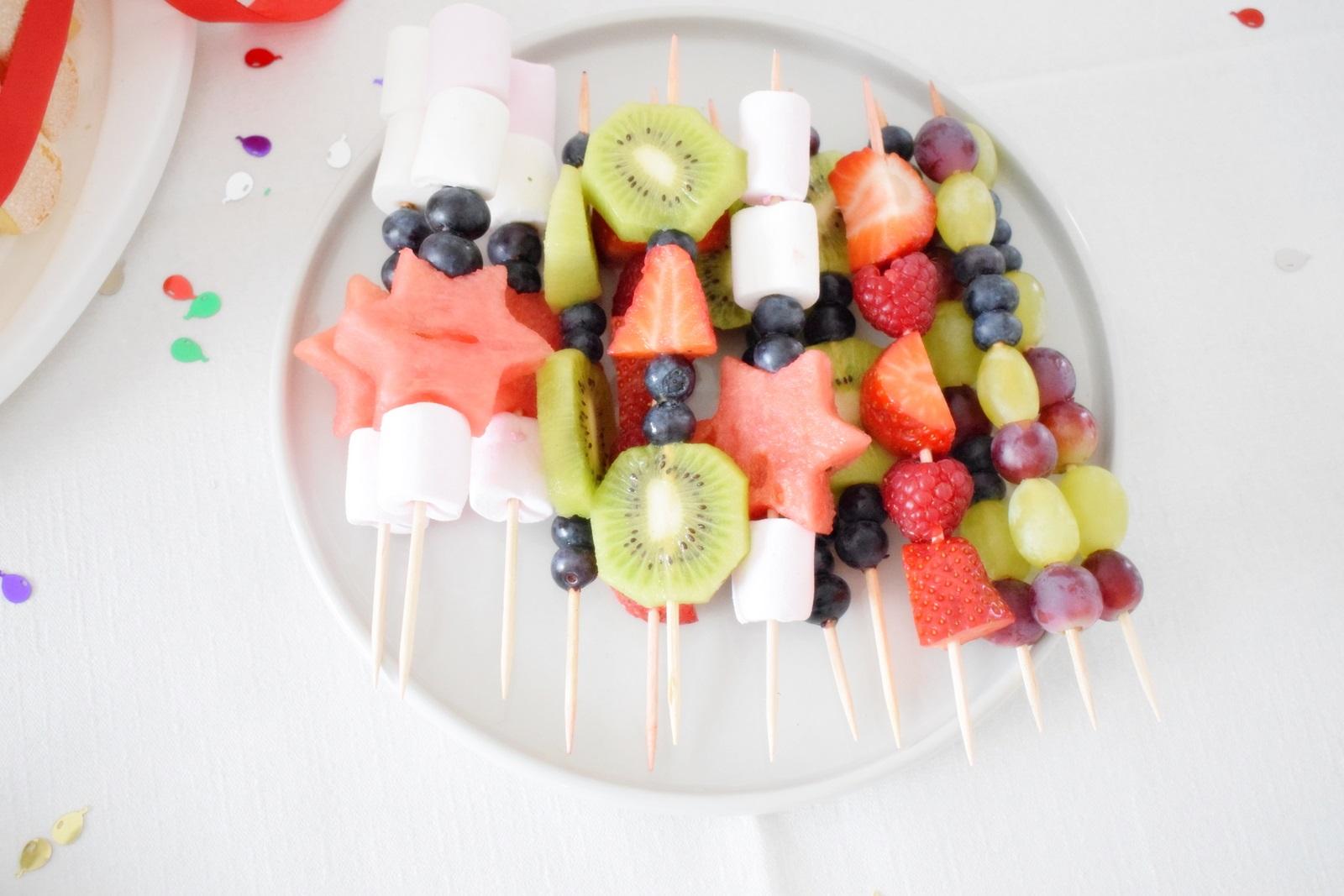 Kindergeburtstag Snacks Ideen Obst Unalife