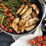 Menü mit Balsamico – Balsamico Hähnchen & marinierte Erdbeeren mit Mascarpone