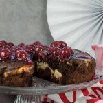 Schoko Kirsch Kuchen mit Vanille-Quark Füllung