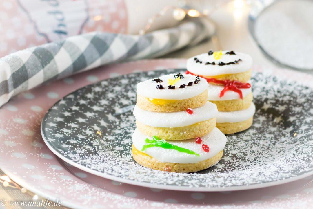 Schneemann Kekse - Weihnachtsbäckerei mit Krasilnikoff - Unalife
