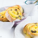 Rezept für Rosinenschnecken mit Pudding
