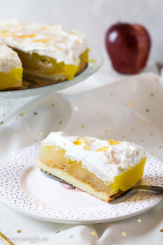 Apfeltorte mit Vanillepudding