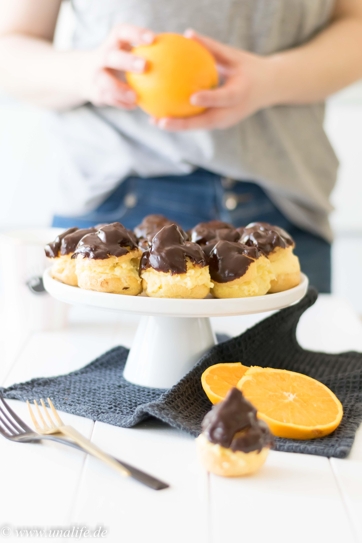Rezept für Windbeutel mit Vanille Orange