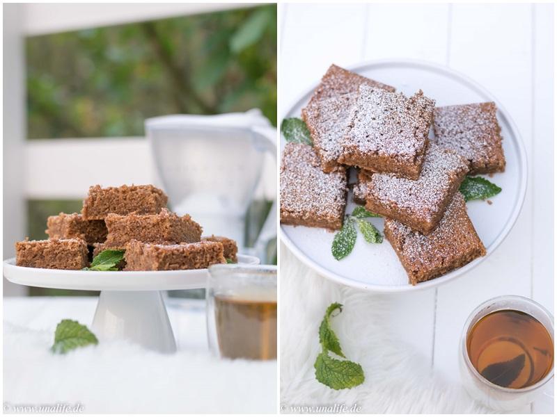 Teekuchen mit Pfefferminztee und frischer Minze