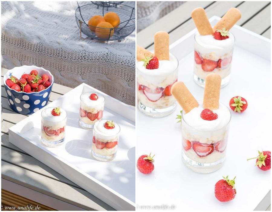 Dessert im Glas Erdbeeren