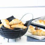 Rezept für Hörnchen mit Nutella, Käse und Marmelade (64 Stück)