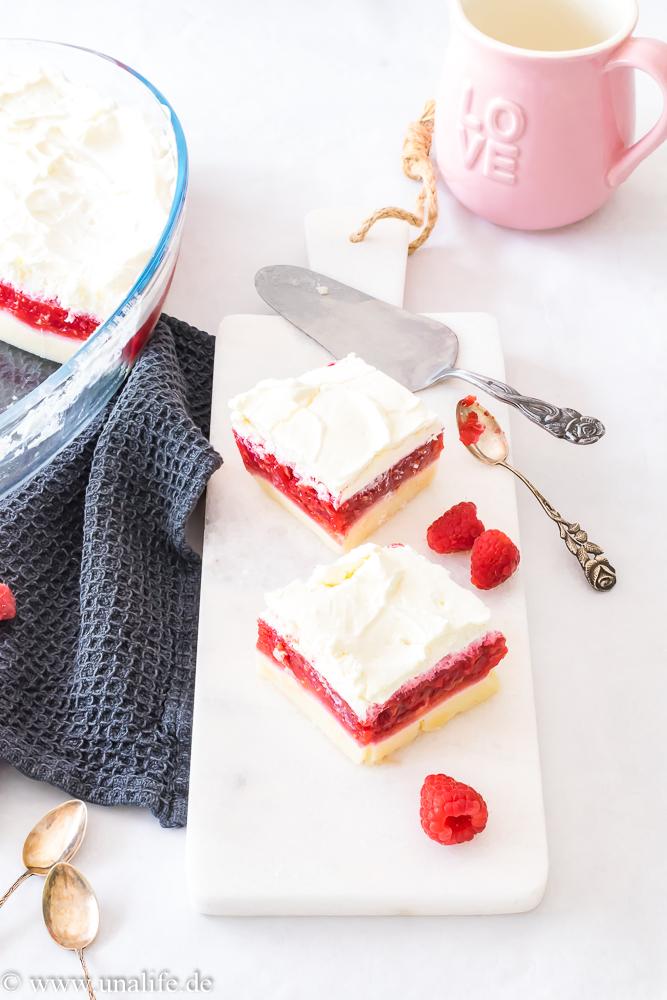 schneller Kuchen mit Himbeeren