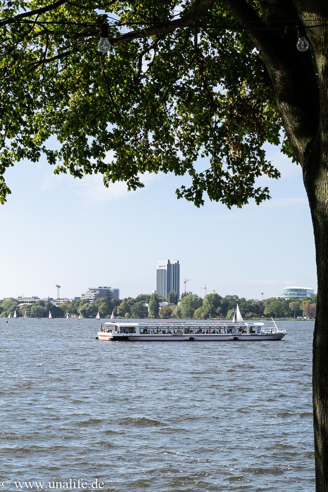 Außenalster Hamburg im Herbst
