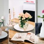 Tischdeko mit BLUMEN- hol dir Frühling ins Haus (Tipps & Ideen)