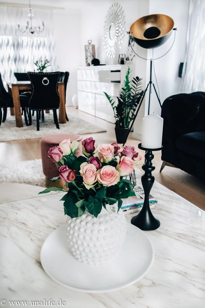 Tischdeko Wohnzimmer dekorieren