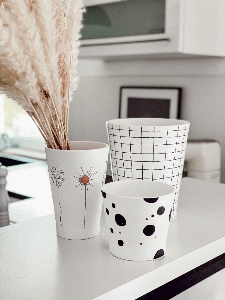 Vasen mit Muster DIY