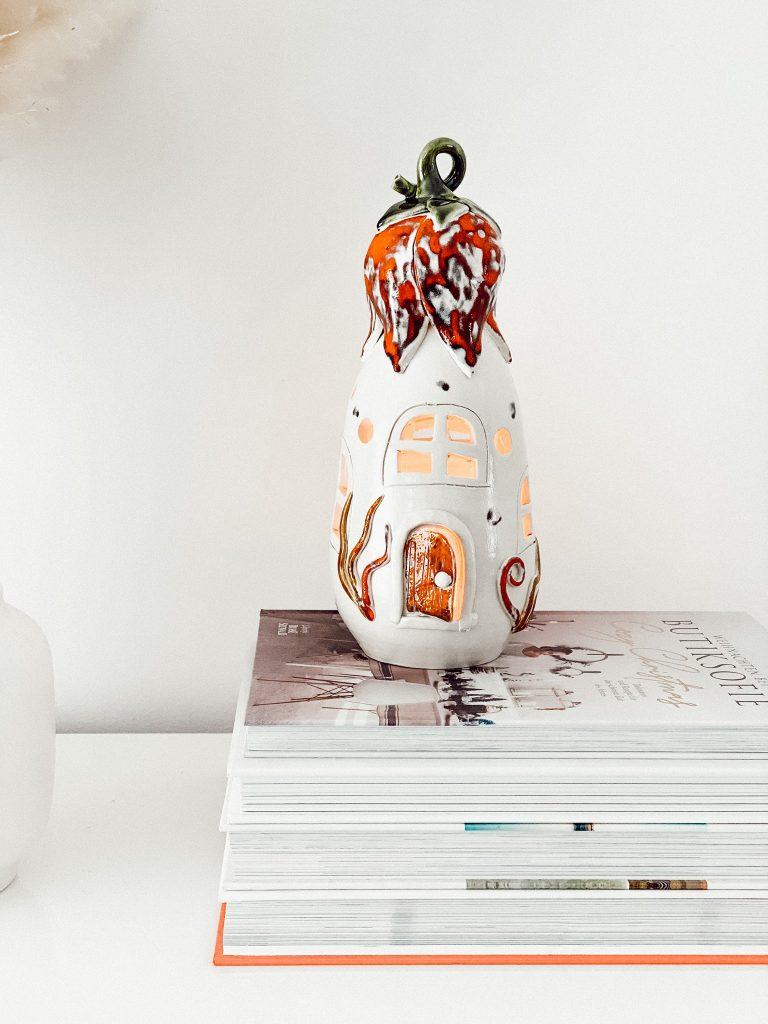 Teelichthäuser aus Keramik