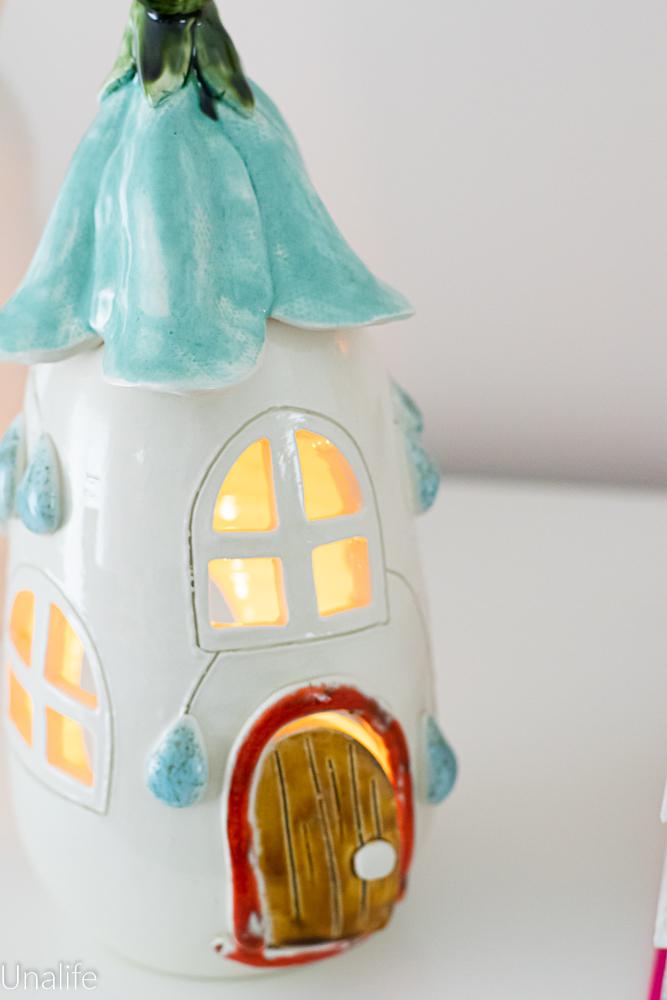 Teelichthaus Deko Keramik