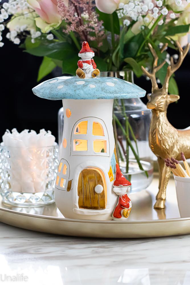 keramikdeko Tischdeko Teelichthäuser