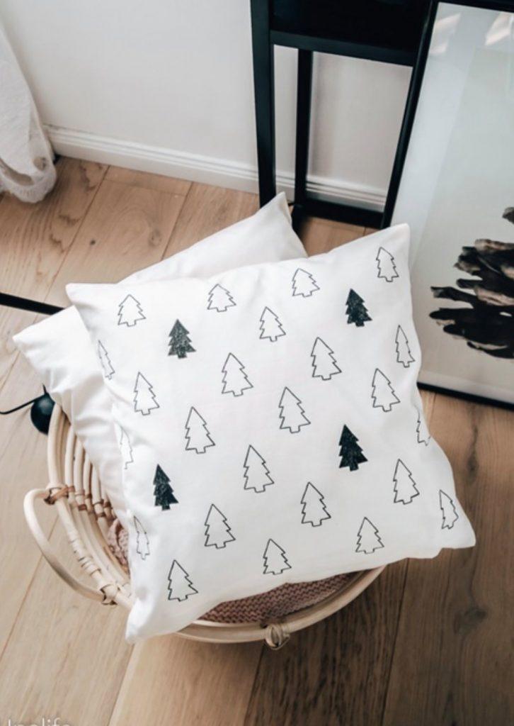 Weihnachtskissen Tannenbäume DIY