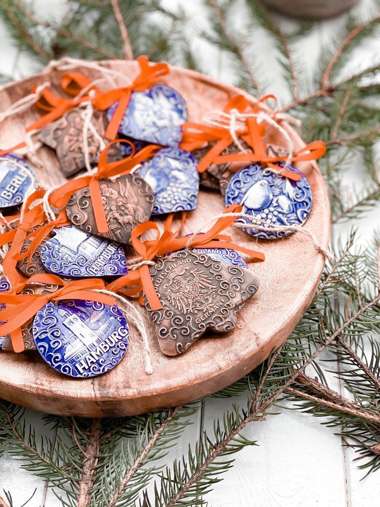 weihnachtsbaumschmuck keramikdeko